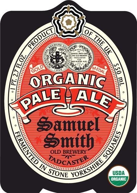Samuel Smith Organic Pale Ale beer Label Full Size