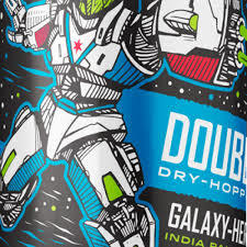 Revolution Double Dry Hopped Galaxy Hero beer Label Full Size