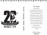 Rock Art 20th Anniversary Double IPA beer