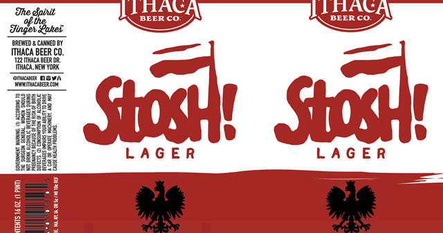 Ithaca Stosh! beer Label Full Size