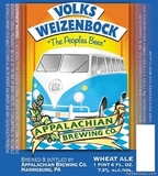 Appalachian Volks Weizenbock beer