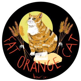 Fat Orange Cat This Is Not My Beautiful Beer beer Label Full Size