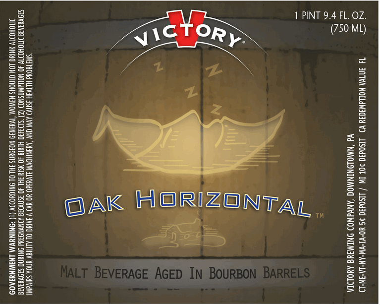 Victory Oak Horizontal beer Label Full Size
