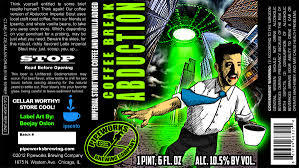Pipeworks Coffee Break Abduction beer Label Full Size