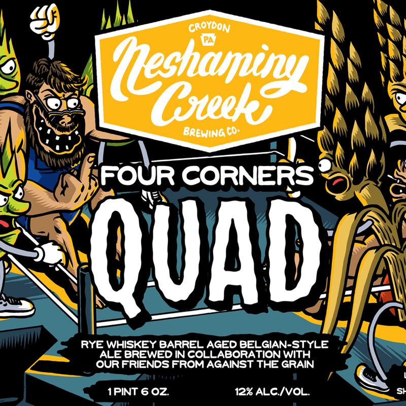 Neshaminy Creek Barrel Aged Four Corners Quad Beer