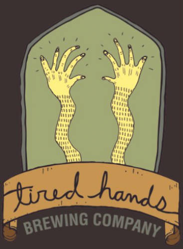 Tired Hands Neck Bus beer Label Full Size