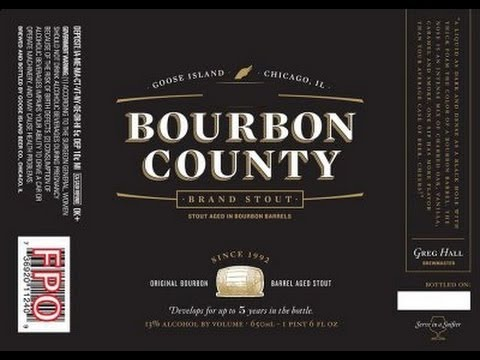 Goose Island Bourbon County Coffee Stout 2012 beer Label Full Size