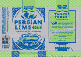 Two Roads Persian Lime Gose beer Label Full Size