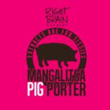 Right Brain Bourbon Barrel Mangalista Pig Porter beer