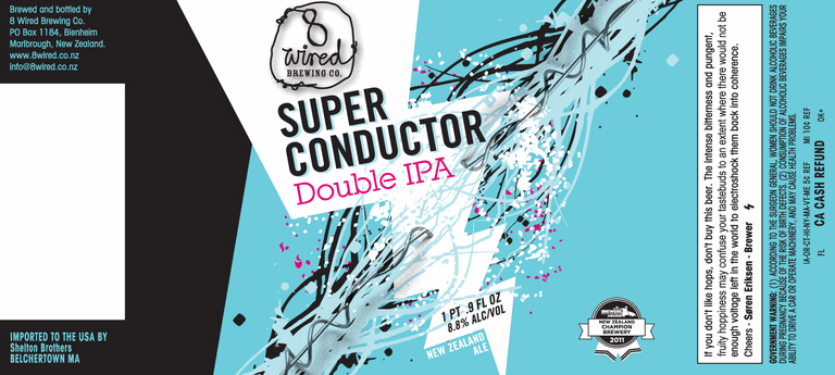 8 Wired Superconductor beer Label Full Size