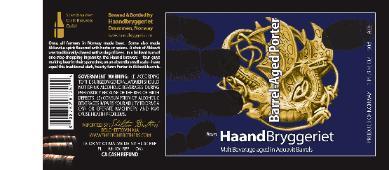 Haandbryggeriet Barrel-Aged Porter beer Label Full Size