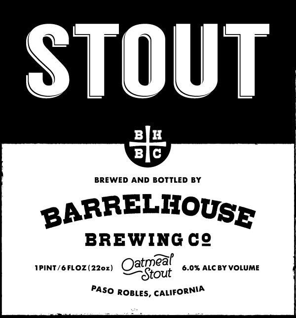 BarrelHouse Oatmeal Stout NITRO beer Label Full Size