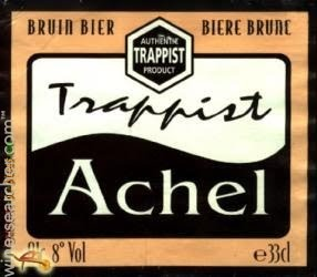 Achel Brune beer Label Full Size