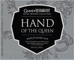 Ommegang Game of Thrones Hand of the Queen beer Label Full Size