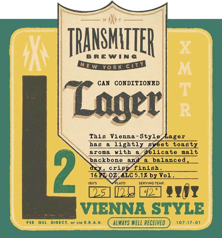Transmitter L2 Vienna Lager beer Label Full Size