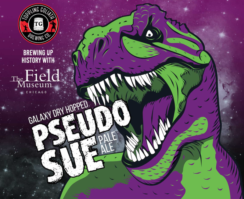 Toppling Goliath Double Dry Hopped PseSue (Galaxy) beer Label Full Size