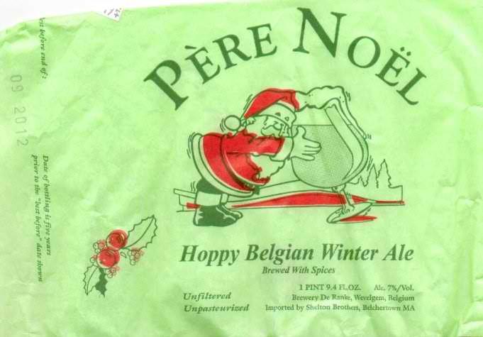 De Ranke Père Noël beer Label Full Size