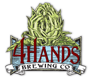 4 Hands Contact High Juiced beer Label Full Size