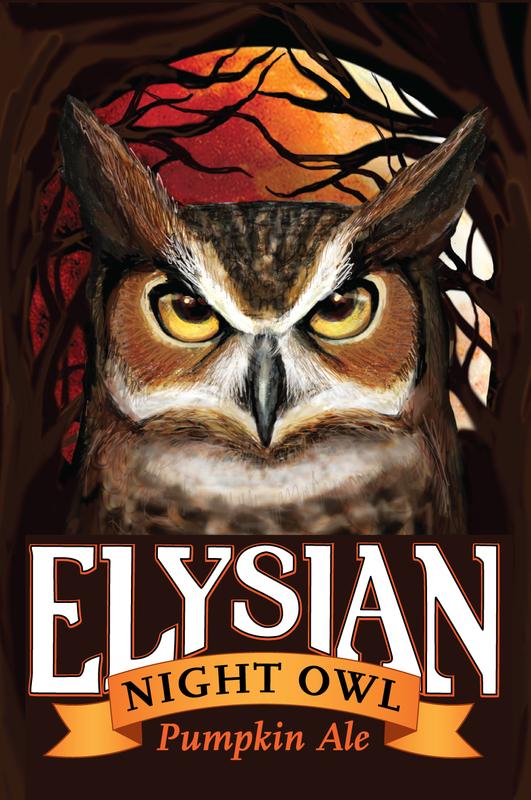 Elysian Night Owl Pumpkin beer Label Full Size