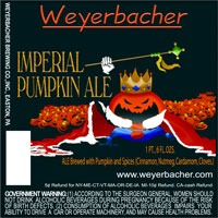 Weyerbacher Imperial Pumpkin Ale beer Label Full Size