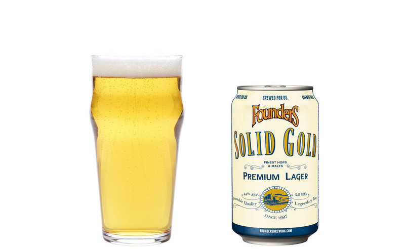 Founders Solid Gold Premium Lager beer Label Full Size