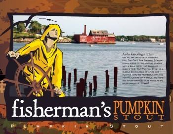 Cape Ann Fisherman's Pumpkin Stout beer Label Full Size