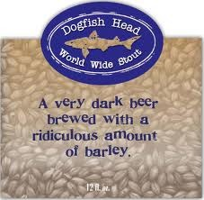 Dogfish Head World Wide Stout 2012 beer Label Full Size