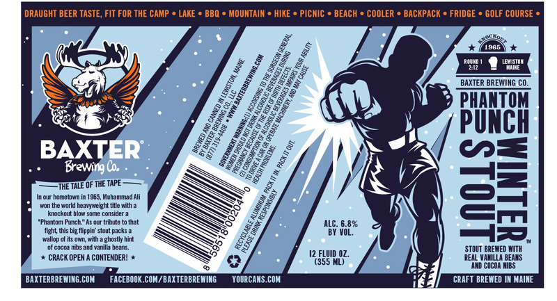 Baxter Phantom Punch Winter Stout beer Label Full Size
