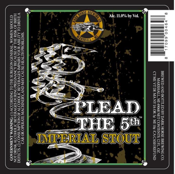 Dark Horse Plead the 5th 2012 beer Label Full Size
