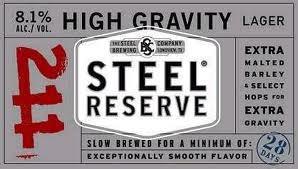 Steel Reserve 211 beer Label Full Size