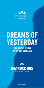 Threes + Bearded Iris Dreams Of Yesterday beer Label Full Size