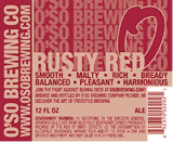 O'so Rusty Red Ale Nitro beer