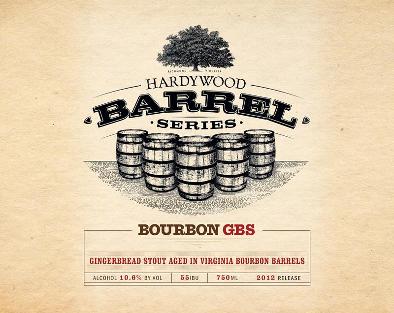 Hardywood Park Bourbon Gingerbread Stout beer Label Full Size