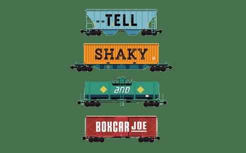 Singlecut DDH Tell Shaky and Boxcar Joe beer Label Full Size