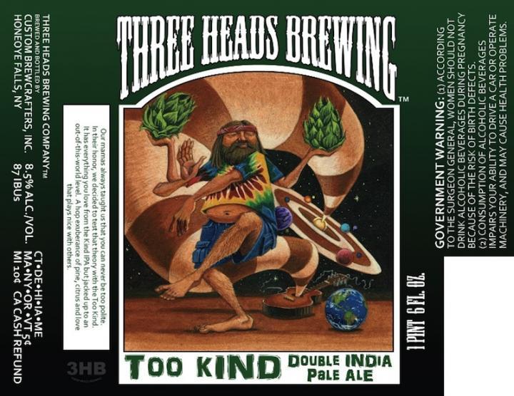 Three Heads Too Kind Double IPA - Where to Buy Near Me - BeerMenus