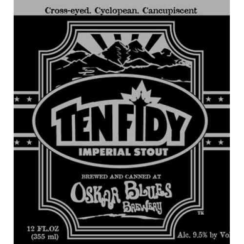 Oskar Blues Ten Fidy beer Label Full Size