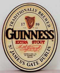 Guinness Extra Stout beer Label Full Size