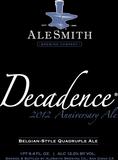 AleSmith Decadence 2012 beer