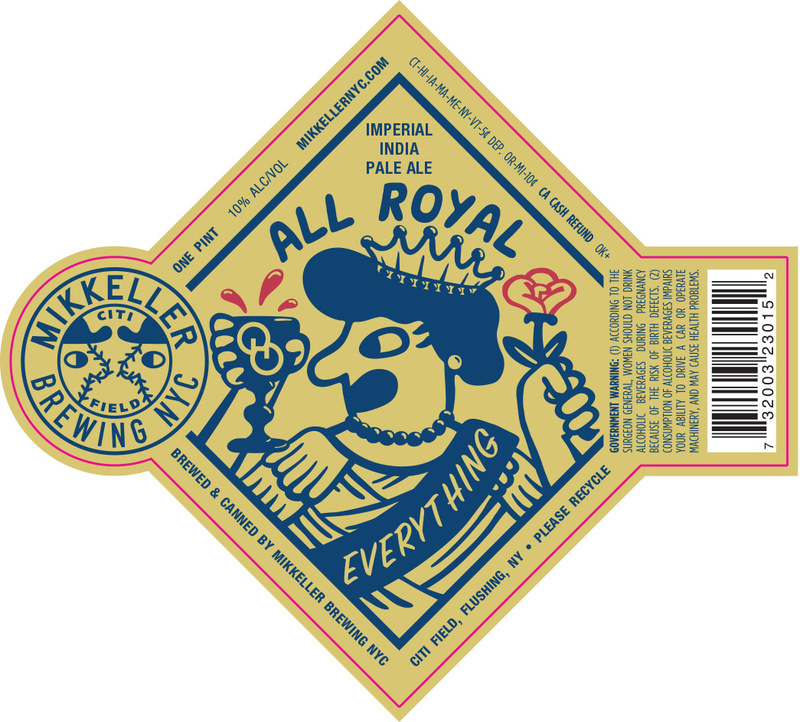 Mikkeller NYC All Royal Everything (Queens Edition) beer Label Full Size