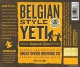 Great Divide Belgian Style Yeti Imperial Stout Beer