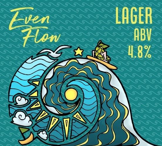 No Worries - EvenFlow beer Label Full Size