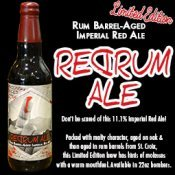 Imperial Red Rum Ale beer Label Full Size