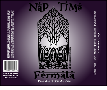 Nap Time - Fermata Pale Ale beer Label Full Size