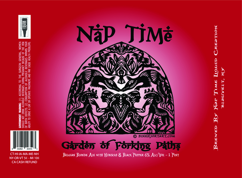 Nap Time - Garden of Forking Paths beer Label Full Size