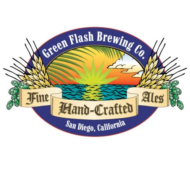 Green Flash Double Columbus IPA beer Label Full Size