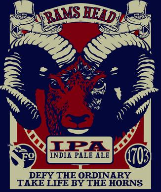 Fordham Rams Head IPA beer Label Full Size