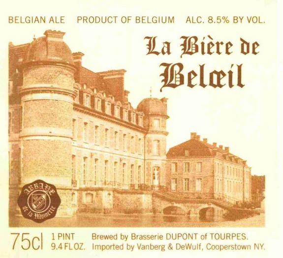 Dupont La Bière de Beloeil beer Label Full Size