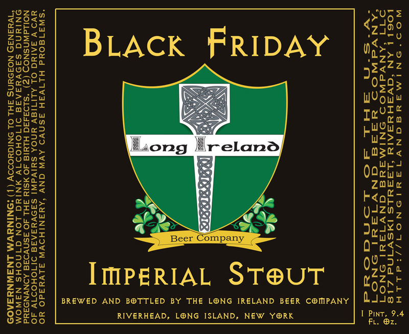 Long Ireland Imperial Stout beer Label Full Size