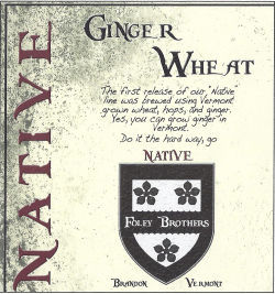 Foley Brothers Ginger Wheat beer Label Full Size