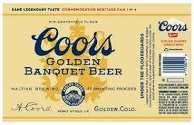 Coors Banquet beer Label Full Size